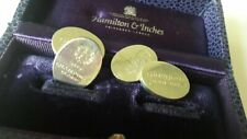 Hamilton & Inches solid Sterling Silver cufflinks 2002 Champions League Final