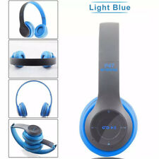 Bluetooth Headset Music HiFi Headphone w Mic FM TF Cards MP3 Players Wireless