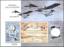 Nicaragua 2000 Planes/Aircraft/Balloon/Aviation/Military/Transport 6v m/s n42782