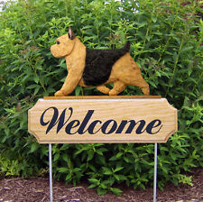 Norwich Terrier Dog Breed Oak Wood Welcome Outdoor Yard Sign Black & Tan