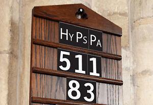 Church Hymn & Psalm Sliders / Hy Ps Pa – White on black Hymn Board Signs