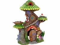 LARGE TREE TOP SPA FAIRY TREE HOUSE with OPENING DOOR MAGICAL PIXIE ELF