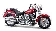 HARLEY DAVIDSON 2004 FLSTFI Fat Boy 1:18 Rojo Modelo Motocicleta DE MAISTO
