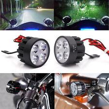 Paire 12V Universel 4 LED Rétroviseur SPOT Phare Antibrouillard Feux Blanc Moto