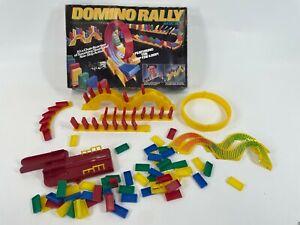 Vintage Pressman 1999 Domino Rally Plastic Basic Tile Stacking Stunt Game Set