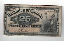 1900 Dominion of Canada 25 Cent Note