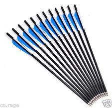 "12 Pcs 20"" Crossbow Bolts Premium Carbon Arrows Archery Hunting Dead Strike"