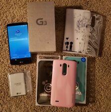 GREAT LG G3 VS985 32GB VERIZON SMARTPHONE METALLIC BLACK + EXTRAS, CLEAN ESN