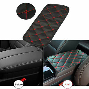 Universal Leather Auto Center Console Armrest Pad Car Seat Box Cover Protector