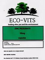 Zinc Picolinate 50mg 365 caps Hair Skin Immune Health Fertility High Absorption