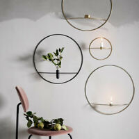 Wall Mounted Candle Holder Metal 3D Geometric Tea Light Home Decor Candlestick