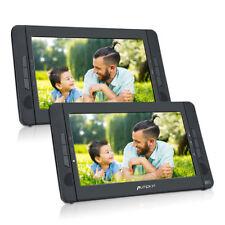 """10.1"""" Monitor per poggiatesta auto doppio schermo doppio +lettore DVD USB SD Mp3"""