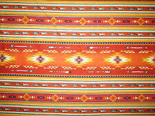 Navajo Native American Feather Arrow Terracotta Gold Gray Cotton Fabric FQ