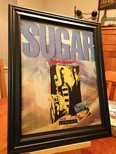 "BIG 10x13 FRAMED ORIGINAL SUGAR ""COPPER BLUE"" LP ALBUM CD PROMO AD"