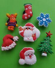 7 x Schuhstecker/Shoe Charms für Clogs/Crocs*  Weihnachten Set 3 Nikolaus