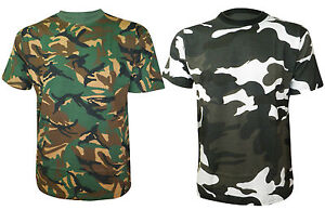 Men' T Shirts Camoflauge Print outdoor Shooting Hunting casual SIZES S - 5XL