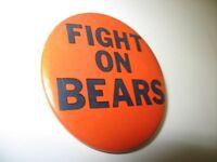 "Vintage Fight On Bears Chicago Bears Football 2.25"" Pin-Back Button Illinois"