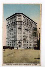 CANADA carte postale ancienne MONTREAL médical arts building