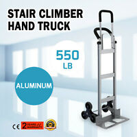 Carrello Arrampicamento per Scale con 6 Ruote Capacità 250kg in Alluminio