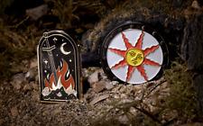 Dark Souls - Sunlight Shield & Bonfire Enamel Pins