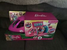 Brand New Barbie Doll Dream Plane Playset with 15 Themed Accessories