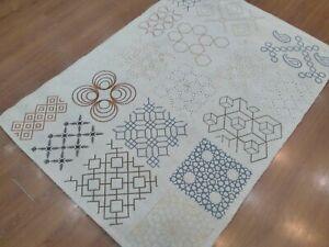 4'x 6' Rug | Handmade Hand Woven Wool & Polyester Gray Area Rug