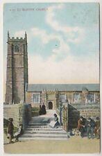 Cornwall postcard - St Buryan Church - P/U 1906