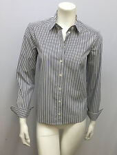 TOM FORD GUCCI SHIRT BLOUSE BLUE & WHITE STRIPES FITTED SIZE 40 SMALL