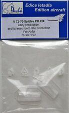 Pavla V72070 1/72 Vacform Aircraft Canopy Spitfire PR. XIX early/late