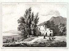 EREMITAGGIO DEL VESUVIO. Somma Vesuviana.ACCIAIO. Stampa Antica.Certificato.1838