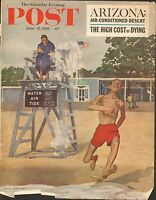 JUNE 17 1961 SATURDAY EVENING POST magazine cover print - LIFEGUARD
