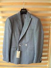 Remus Cotton DB Jacket 'Mancini'/Blue Marl - 38R WAS £139.00