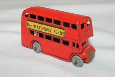 "Matchbox #5 London Bus, ""Buy Matchbox Series"", Metal Wheels"
