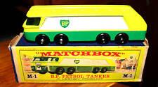 MATCHBOX M1 B P PETROL AUTOTANKER  REG WHEELS LESNEY