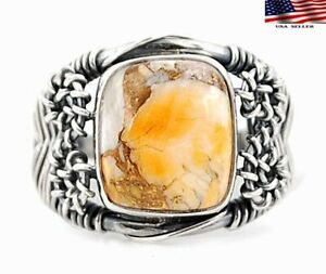 Spiny Oyster Turquoise - Arizona 925 Sterling Silver Ring Jewelry Sz 8.5 NW3-6