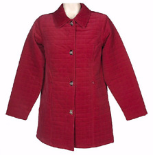 Denim & Co. Quilted Pinwale Corduroy Topper, Size 1X, Berry Red