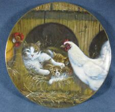 Right Church Wrong Pew Lowell Davis Collector Plate Cats Kittens Chickens