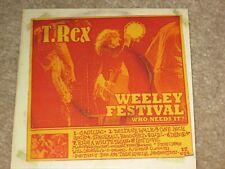 T REX - WEELEY FESTIVAL - NEW CD