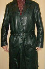 Man's Elegant Luxurious Soft Leather Trench German Jacket Coat 52 / UK 42 / L