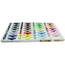 64 Pieza Hilo de Coser 100% Poliéster Color coser bobinas y conjunto de amenazas