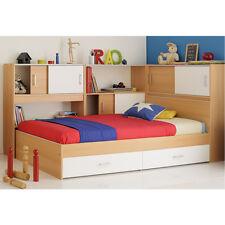 Jugendbett Snoop Stauraumbett Bett Kinderbett in Samerbergbuche 90x200