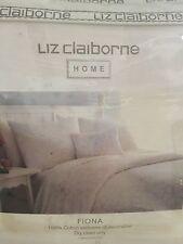 "Liz Claiborne Home ""Fiona"" 3pc King Duvet Cover/2pc Standard Shams Nip Beautiful"