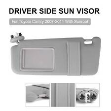 Driver Side Left Sun Visor with Sunroof for Toyota Camry 2007-2011 Grey