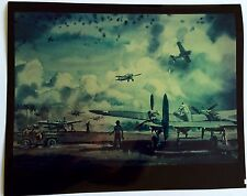 VINTAGE RARE WWII NAVY PHOTOGRAPH OF W F DRAPER WW2 ORIGINAL MILITARY PAINTING