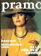 Pramo--Verlag für die Frau DDR Leipzig--3/90--Mit Musterbogen