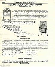 1941 ADVERT Sterling Motor Oil Sidewalk Display Sign Quart Cans Casite Orel