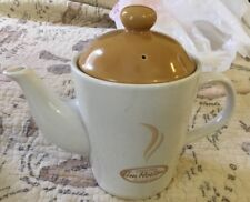 """Tim Hortons Limited Edition Coffee/ Tea Pot & Lid~ 2 Cup~6 3/4"""" high New!"""