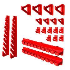 20 Werkzeugträger Sortiment Werkzeugwand Werkzeughalter Wandregal Werkstatt rot