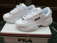 Ladies Fila Provenance Trainers White With Black Trim UK 5.5 Brand New And Boxed