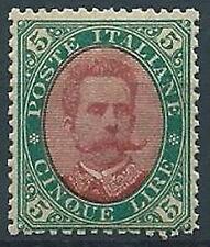 1889 REGNO UMBERTO I 5 LIRE MNH ** - T245